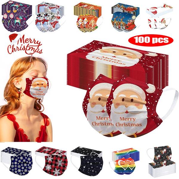 unisex watch, Fashion, childrenmask, christmasprintmask