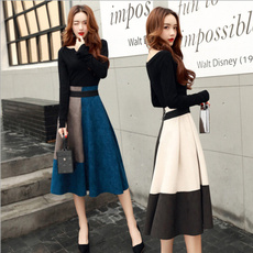 long skirt, Two-Piece Suits, Ladies Fashion, Dresses