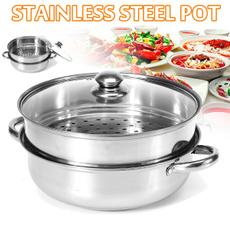 Steel, kitchensteamer, doublesteamer, kitchengadget