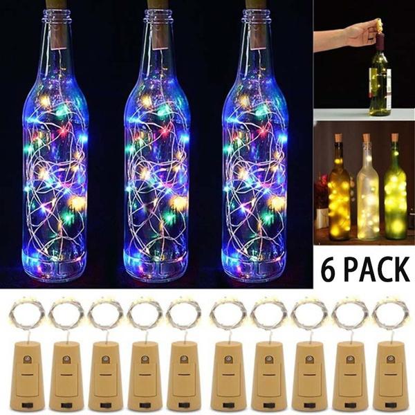 bottlestringlight, Decor, bottlelightscork, Copper