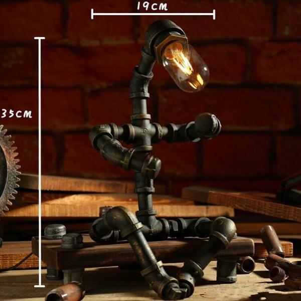 Robot, edisonlamp, readinglight, retrolight