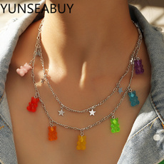 cute, Chain Necklace, Star, Jewelry