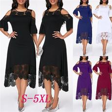 Plus Size, short sleeve dress, party, Lace