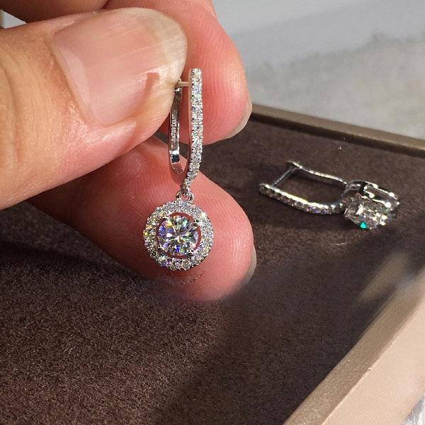 Sterling, DIAMOND, Dangle Earring, Jewelry