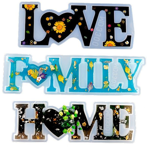Home & Kitchen, Decor, Home Decor, lettersresinmold