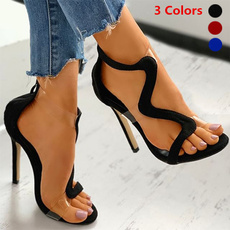 stilettoheel, Summer, cutoutstilettoheel, Sandals