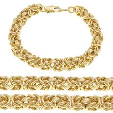 yellow gold, 8MM, Jewelry, chianbracelet