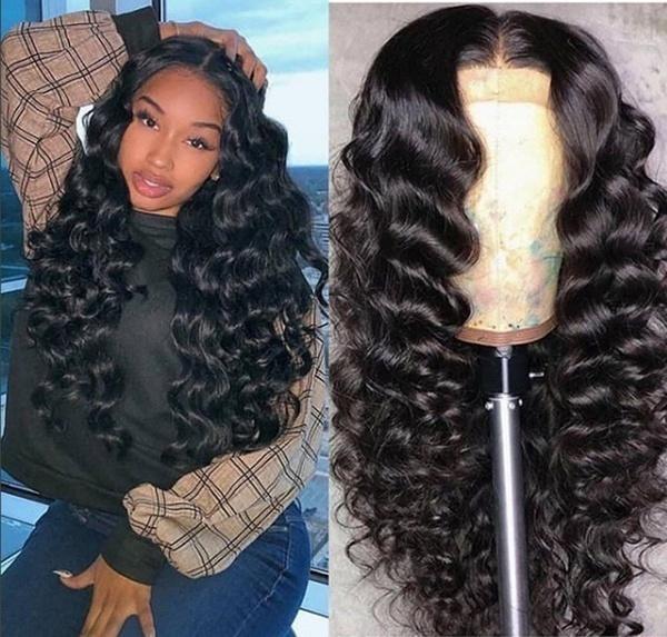wig, Black wig, Fiber, longstraighthair
