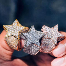 Sterling, DIAMOND, Star, 925 silver rings