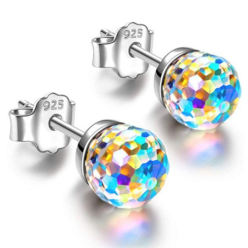 Sterling, Jewelry, Colorful, Stud Earring