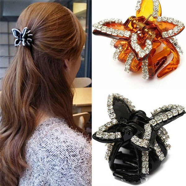 butterfly, accessoryclip, womenhairclamp, crabclip