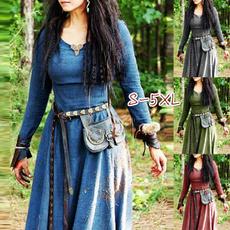 medievaldres, Medieval, vikingdres, long dress