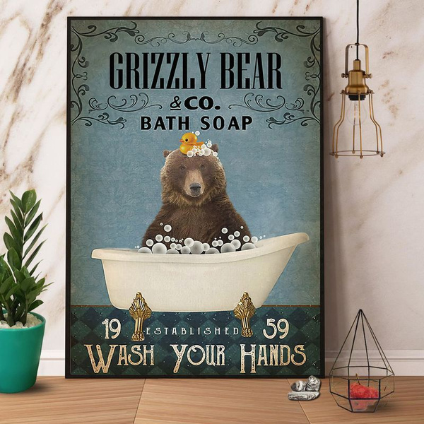 Decor, Posters, Bears, Bath