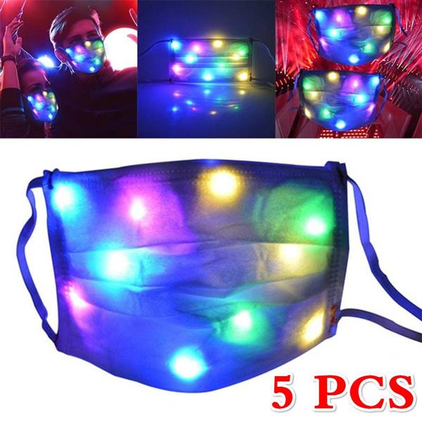 glowingmask, light up, partymask, Music