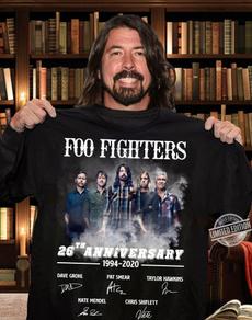 foofighter, mensblacktshirt, Cotton T Shirt, Plus size top