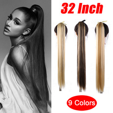 silkystraightponytail, Hairpieces, clip in hair extensions, Hair Extensions