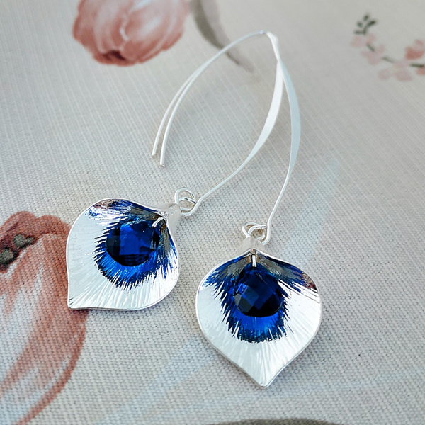 Sterling, Blues, Flowers, Jewelry