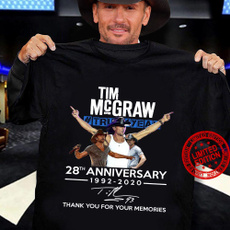 Cotton T Shirt, countrymusicsinger, timmcgraw28thanniversary, short sleeves