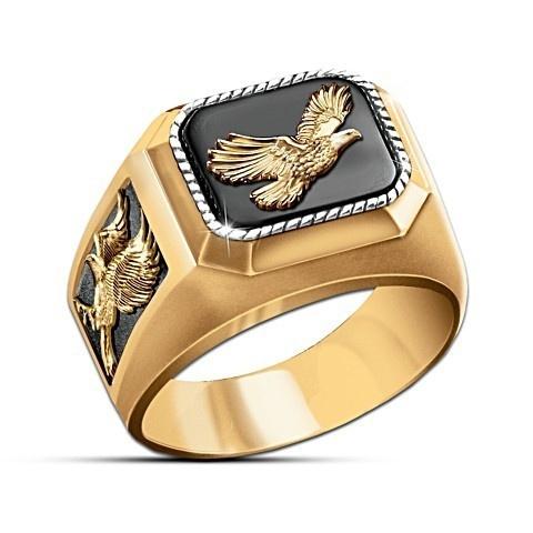 ringsformen, gold, Eagles, Men