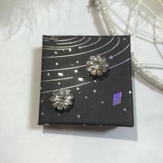 Crystal, Flowers, simpleearring, Stud Earring