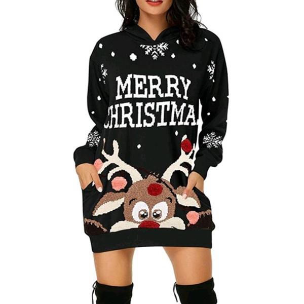 Pocket, hooded sweater, Christmas, Sleeve