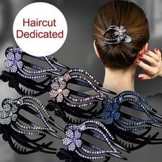 hair, largealligatorclip, Flowers, rhinestonehairpin