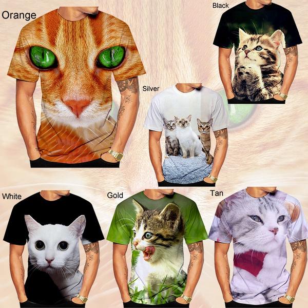 Fashion, Necks, fashion3dtshirt, Cats