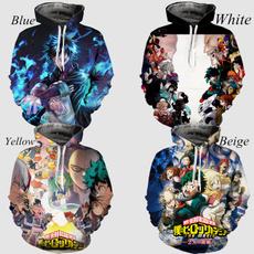 3D hoodies, myheroacademia, hooded, myheroacademiacosplay