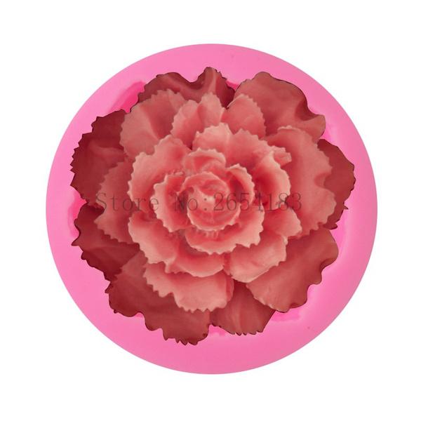 Flowers, Baking, Silicone, Rose