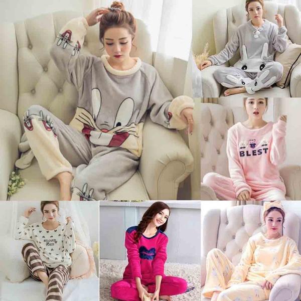 women's pajamas, winterpajama, pijama, Fleece