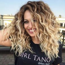 wig, brown, syntheticcurlywig, blondewavywig