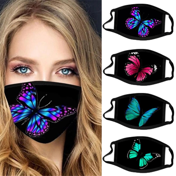 butterfly, mouthmask, casualmask, Colorful