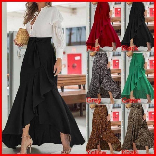 long skirt, Waist, Dresses, high waist skirt