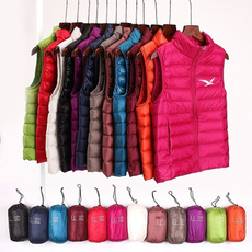 Stand Collar, Casual Jackets, Vest, slim