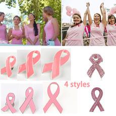 pink, Pins, pinkribbon, Rhinestone Brooch