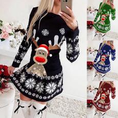 Plus Size, Christmas, christmasdre, Long Sleeve