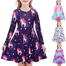 Swing dress, girls dress, sleeve dress, Sleeve