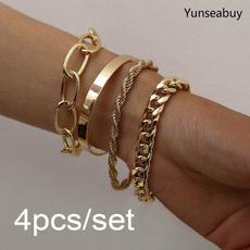 Sterling, Charm Bracelet, Fashion, gold bracelet