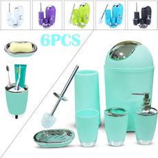 Bathroom, Bathroom Accessories, cleaningset, wastebin