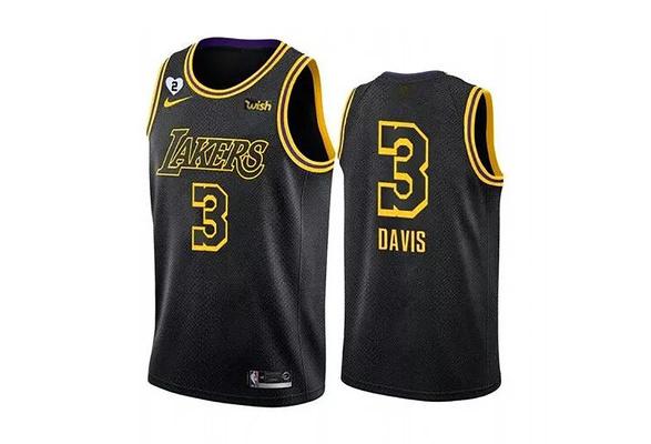 NIKE Jersey 2020 NBA Championship Los Angeles Lakers Anthony Davis #3 Basketball Jersey
