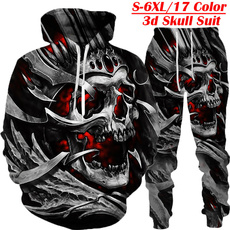 3D hoodies, Men's Hoodies & Sweatshirts, Sudaderas, skull