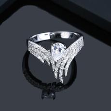 allmatchfemalering, DIAMOND, wedding ring, 925 silver rings