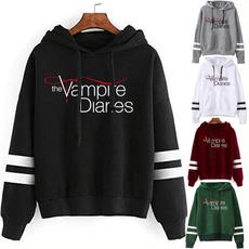 thevampirediariessweatshirt, Fleece, hooded, Sleeve