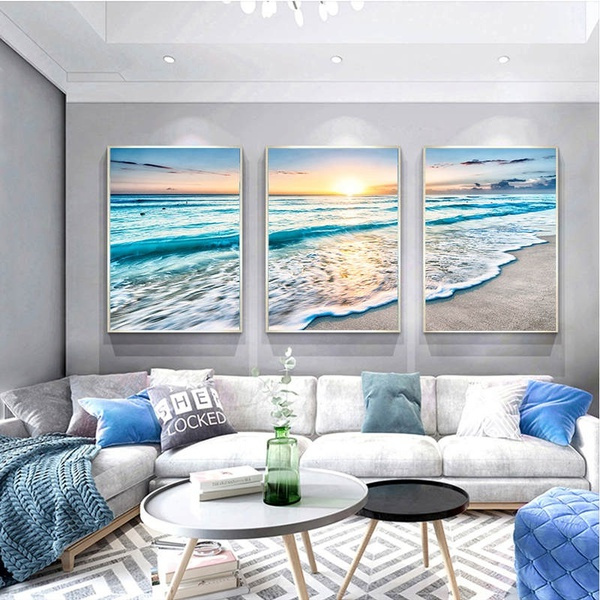 Blues, canvasart, living room, Home Decor