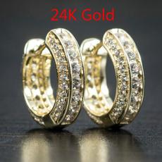 Sterling, Stud, gold, Stud Earring