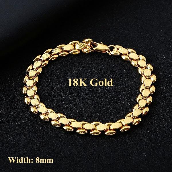 8MM, 18k gold, Jewelry, Chain