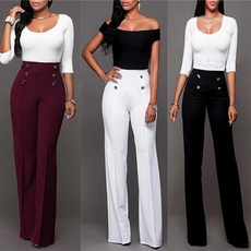 Fashion, high waist, pants, Long pants