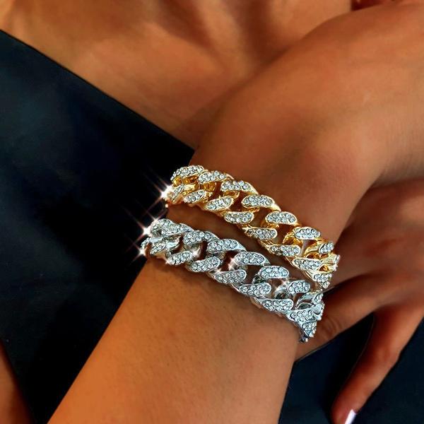 thickchain, 24kgoldbracelet, hip hop jewelry, Jewelry