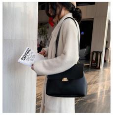 women single shoulder bag, ladysleatherbag, Simple, fashionshoulderbagladysbag