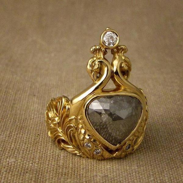 peacock, goldringsforwomen, wedding ring, gold